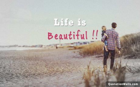Life quote desktop: Life is beautiful.