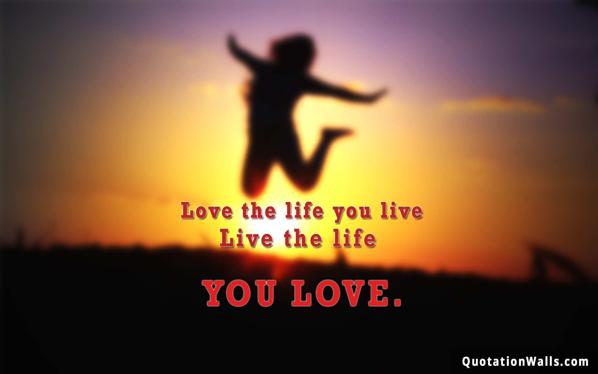 Love Life Wallpapers : Love Life Life Wallpaper for Mobile - QuotationWalls
