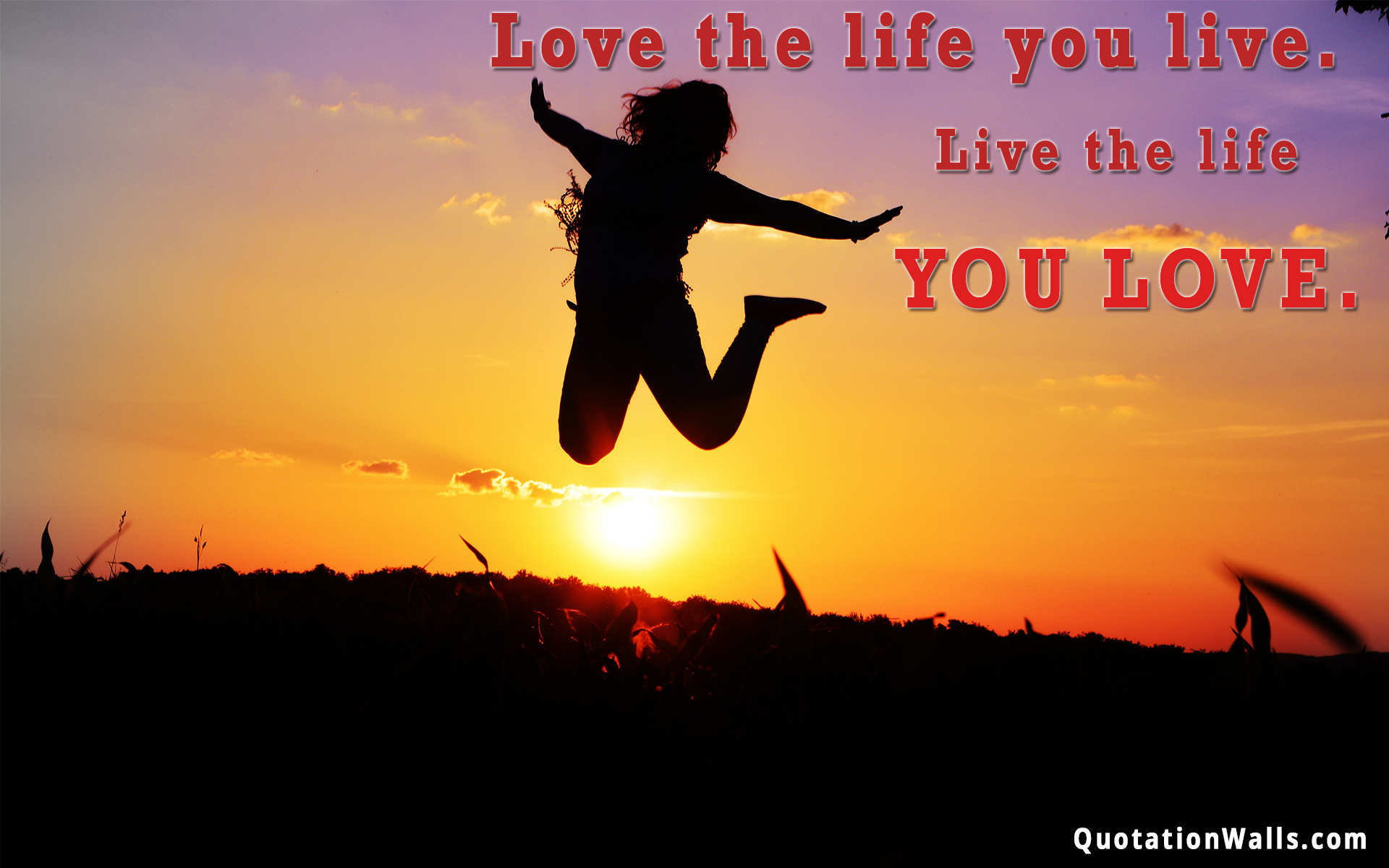 love life life wallpaper for desktop - quotationwalls