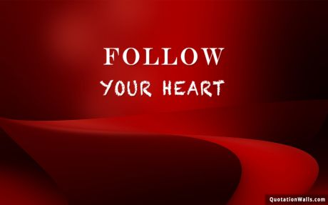 Love quote: Follow your heart