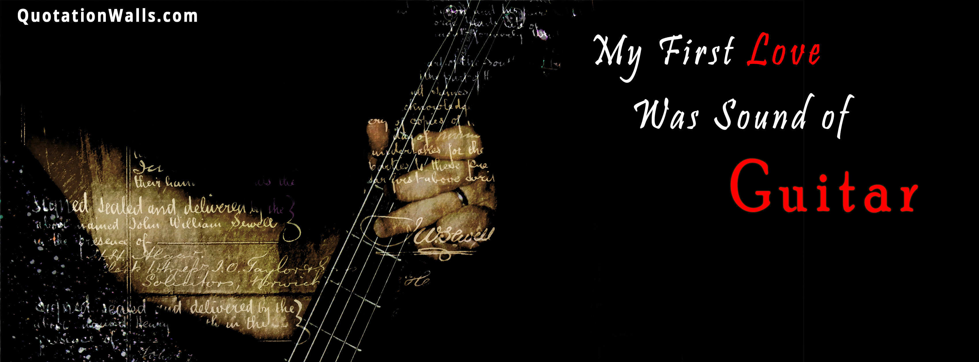 Guitar Love Love Facebook Cover Photo Quotationwalls
