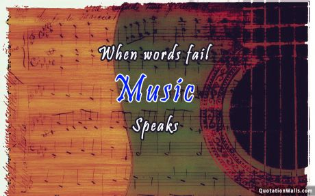 Love quote desktop: Where words fail music speak