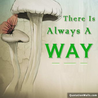 Inspirational quote: There is always a way.