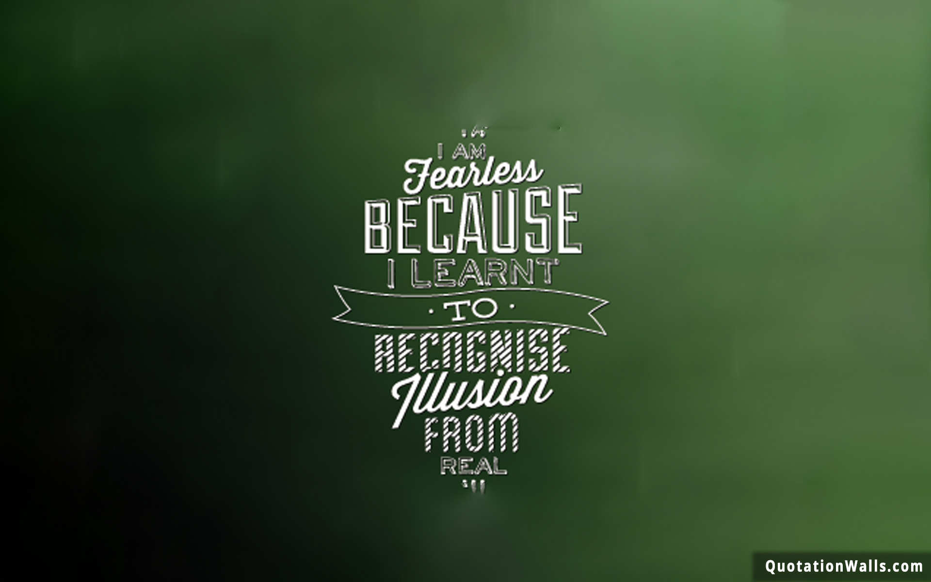 Be Fearless Motivational Wallpaper for Desktop - QuotationWalls