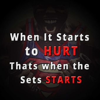 Motivational quote whatsapp: When it starts to hurt, that's when the sets starts.