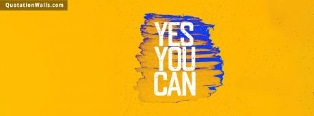 Motivational quote cover: Yes you can